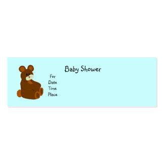 Tarjetas de la fiesta de bienvenida al bebé tarjetas de visita