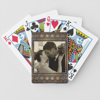 tarjetas de la foto de la memoria del boda baraja de cartas bicycle