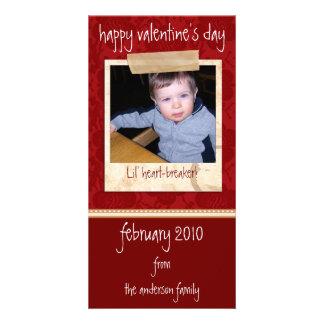 Tarjetas de la foto de la tarjeta del día de San Plantilla Para Tarjeta De Foto