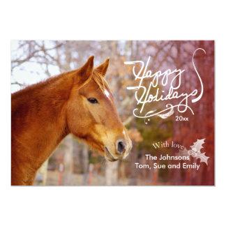 Tarjetas de la foto del día de fiesta del caballo invitación 12,7 x 17,8 cm