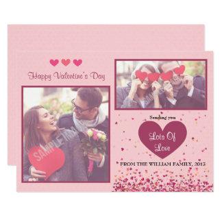 Tarjetas de la foto del el día de San Valentín Invitación 12,7 X 17,8 Cm