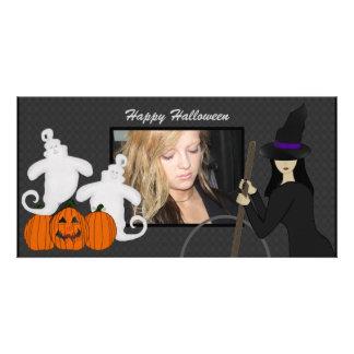 Tarjetas de la foto del fantasma y de la bruja del tarjetas con fotos personalizadas