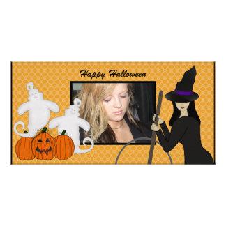 Tarjetas de la foto del fantasma y de la bruja del tarjetas fotograficas personalizadas