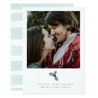 Tarjetas de la foto del navidad de la baya del