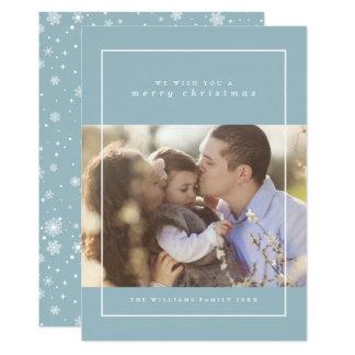Tarjetas de la foto del navidad de los copos de invitación 12,7 x 17,8 cm