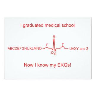 Tarjetas de la graduación de la Facultad de Invitación 12,7 X 17,8 Cm