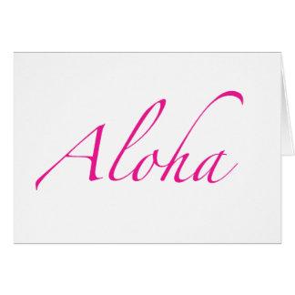 Tarjetas de la hawaiana