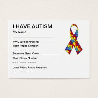 Tarjetas de la identificación del autismo
