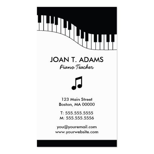 Tarjetas de la industria musical del teclado del p tarjeta personal