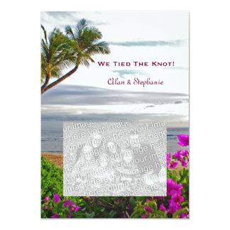 Tarjetas de la invitación de la boda de la playa