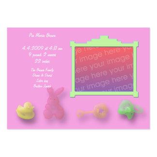 Tarjetas de la invitación de los artículos del beb tarjetas de negocios
