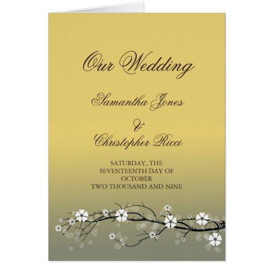Tarjetas de la invitación del boda con los flores