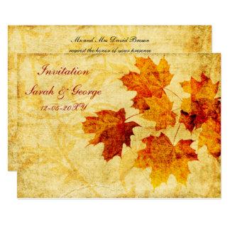 Tarjeta tarjetas de la invitación del boda de la caída