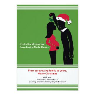 Tarjeta tarjetas de la invitación del embarazo del navidad