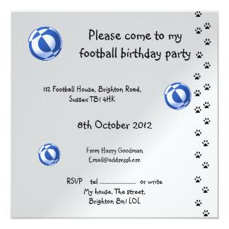 Tarjetas de la invitación del fútbol