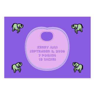 Tarjetas de la invitación del nacimiento del baber plantilla de tarjeta de visita