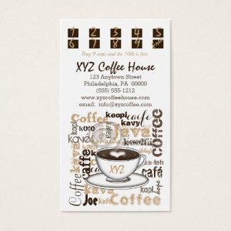 Tarjetas de la lealtad del sacador el | del café