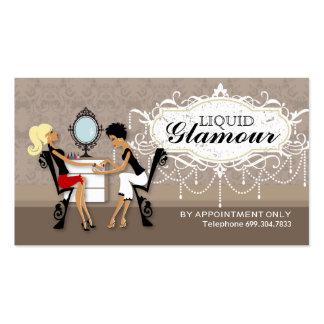 Tarjetas de la lealtad del salón del clavo tarjetas de visita