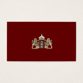 Tarjetas de la pequeña empresa del escudo de armas