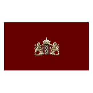 Tarjetas de la pequeña empresa del escudo de armas tarjeta personal