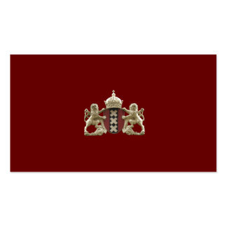 Tarjetas de la pequeña empresa del escudo de armas tarjetas de visita