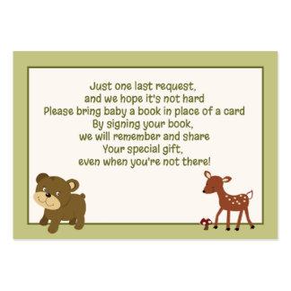 Tarjetas de la petición del libro del recinto de tarjetas de visita grandes