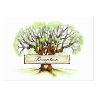 tarjetas de la recepción 3.5x2.5 - árbol de amor tarjetas de visita