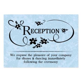 tarjetas de la recepción 3.5x2.5 - azules claras y tarjetas de visita grandes