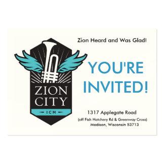 Tarjetas de la recepción de la ciudad de Zion Tarjetas De Visita Grandes