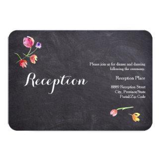 Tarjetas de la recepción de la flor del