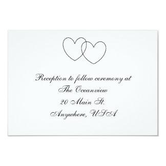 """Tarjetas de la recepción de los """"corazones que invitación 8,9 x 12,7 cm"""
