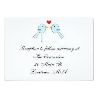 """Tarjetas de la recepción de los """"Lovebirds"""" Invitación 8,9 X 12,7 Cm"""