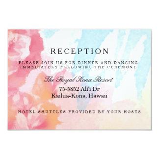Tarjetas de la recepción de los rosas de la invitación 8,9 x 12,7 cm
