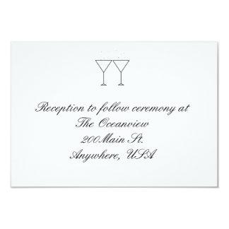 """""""Tarjetas de la recepción de los vidrios de Invitación 8,9 X 12,7 Cm"""