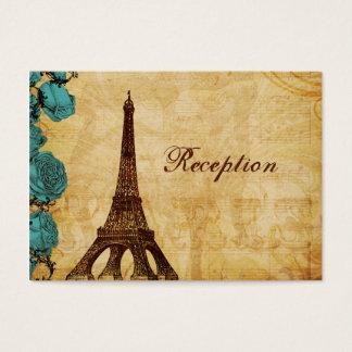 tarjetas de la recepción de París de la torre