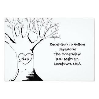 """""""Tarjetas de la recepción del árbol del amor"""" Invitación 8,9 X 12,7 Cm"""