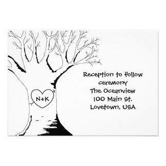 """""""Tarjetas de la recepción del árbol del amor"""" Comunicado"""