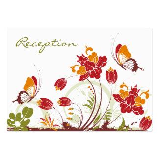 Tarjetas de la recepción nupcial de las mariposas tarjetas de visita grandes