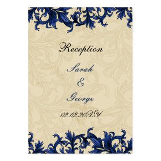 """tarjetas de la recepción nupcial de los """"azules tarjetas de visita grandes"""