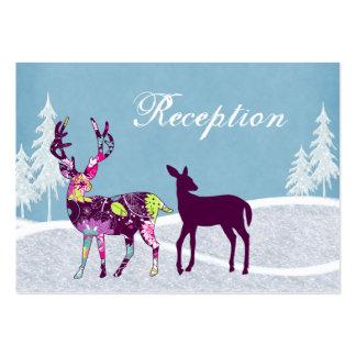 Tarjetas de la recepción nupcial de los ciervos de tarjeta de visita