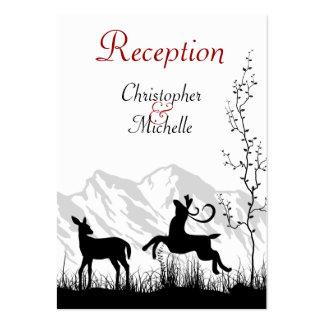 Tarjetas de la recepción nupcial de los ciervos y tarjetas de visita grandes