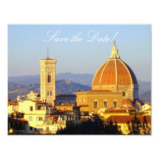 Tarjetas de la Reserva--Fecha de Florencia Invitación 10,8 X 13,9 Cm