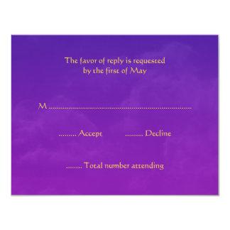 Tarjetas de la respuesta de RSVP de las noches Invitación 10,8 X 13,9 Cm