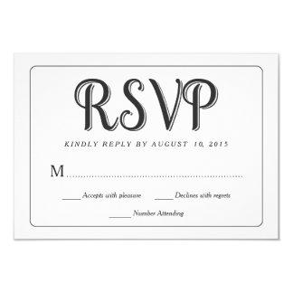 Tarjetas de la respuesta del boda de la pizarra de invitación 8,9 x 12,7 cm