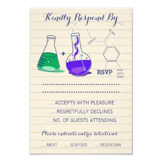 Tarjetas de la respuesta del boda de la química invitación 8,9 x 12,7 cm