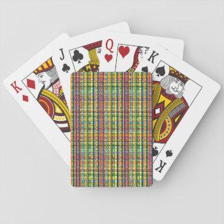 tarjetas de la tela escocesa del arco iris baraja de cartas