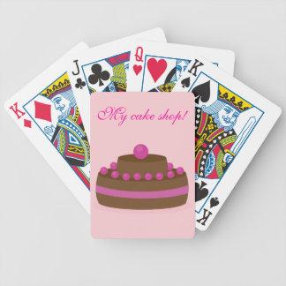 Tarjetas de la torta baraja de cartas
