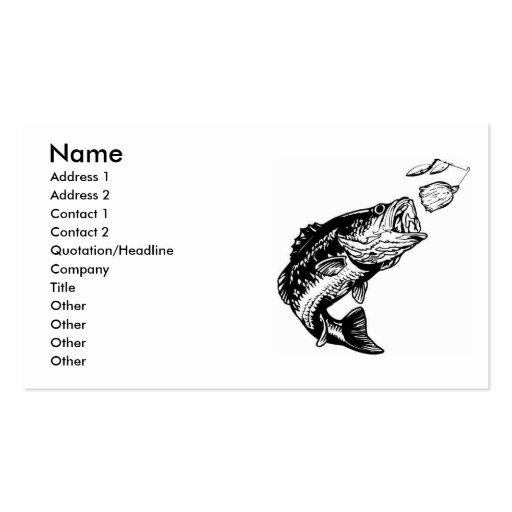 Tarjetas de la visita del pescador bajo tarjetas de visita