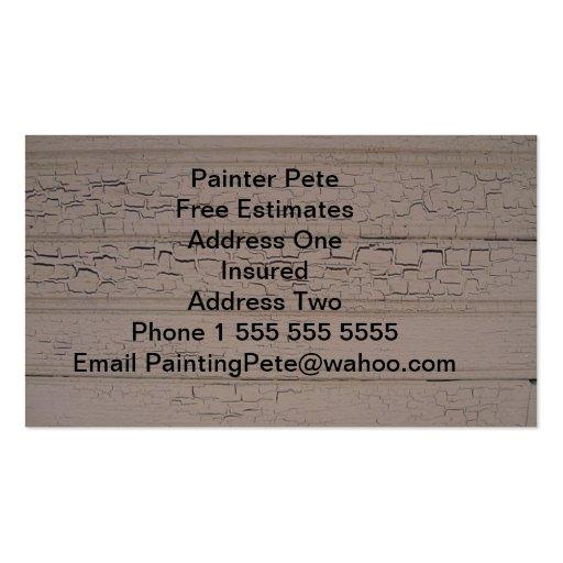 Tarjetas de la visita del pintor tarjeta personal