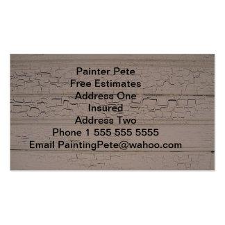 Tarjetas de la visita del pintor tarjetas de visita